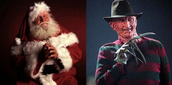 Santa Claus (L), Freddy Krueger (R)