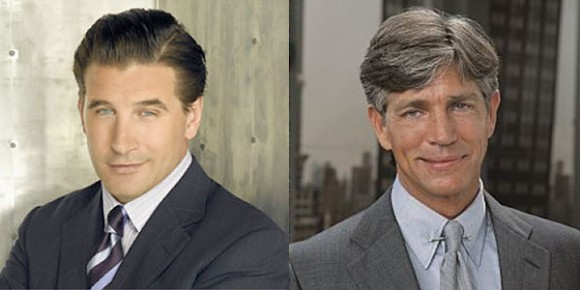Billy Baldwin (L), Crime boss Salvatore Maroni (R)