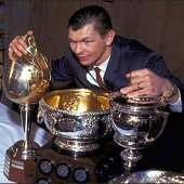 Hockey legend and proud Slovak Stan Mikita, seen here hoarding treasure.