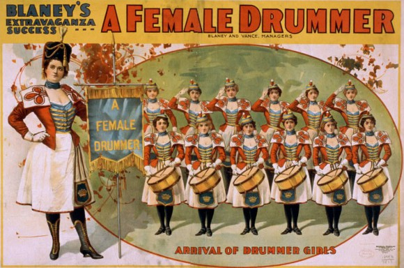 "Twelve drummers, seen here drumming the solo from Rush's ""By-Tor and the Snow Dog""."