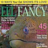 Sadly, the current issue of Eel Fancy is sold out.