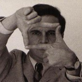 Francois Truffaut, seen here revolutionizing film by shooting without a camera.