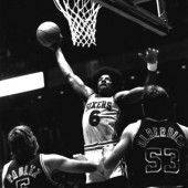 Dr. Julius Erving, seen here leading the fight to eradicate boring basketball.