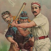 "Snuffy ""Iron Wang"" Haines of the Allentown Jorts takes a turn at-bat."