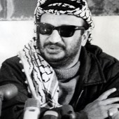 At this point in Yassir Arafat's career, Palestine's future was so bright that he had to wear shades.