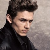 Classics scholar James Franco, seen here portraying sausage magnate James Dean.