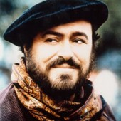 "Luciano Pavarotti, seen here portraying the character of Dom DeLouise in the operetta ""Fumoso et il Bandito 2"""